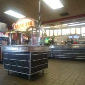 Salad bar at carl\'s jr