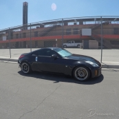nice 350z. those enkei wheels fit it nicely