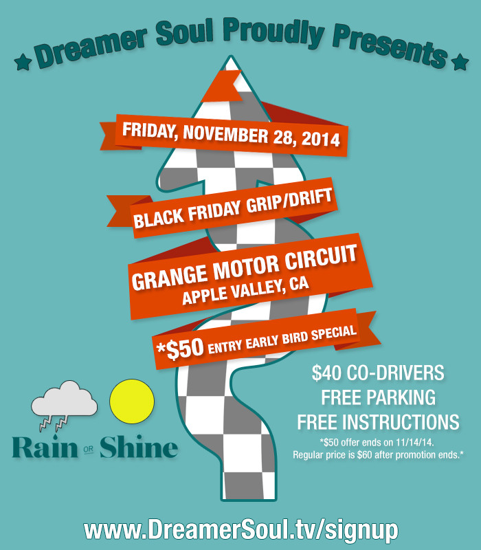 Black Friday Grange Motor Circuit Flyer