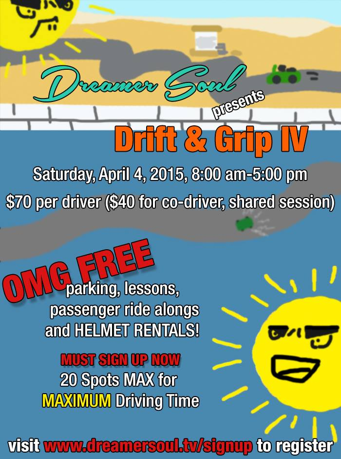 April 4 Drift Grip IV Grange Motor Circuit Apple Valley