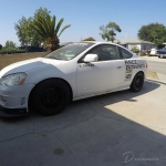 team topak rsx race car in the lot